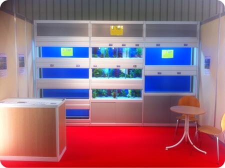 Multitier Aquarium Systems DIY Kits on display @ Interzoo 2014